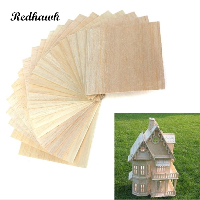 AAA+ Balsa Wood Sheet ply 5 Sheets 100x100x1.5mm Model Balsa Wood Can be Used for Military Models etc Smooth DIY  free shipping