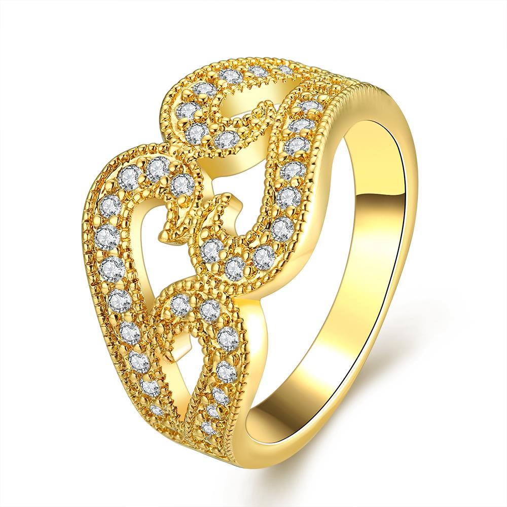 White Wedding Dress Gold Jewelry: New Yellow Gold / Rose Gold /White Color Rings Women AAA