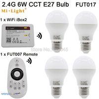AC85 265V 2 4G E27 6W Color Temperature Adjustable Dual White CW WW CCT LED Bulb