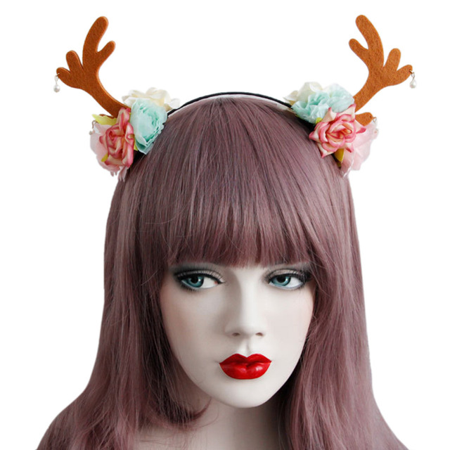 women mask for halloween party accessories christmas antlers lace hair hoop photography theme shooting tie