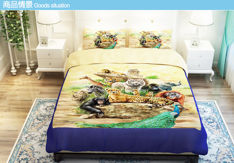 3d Animal Comforters Cover Tiger Print Duvet Cover Sets
