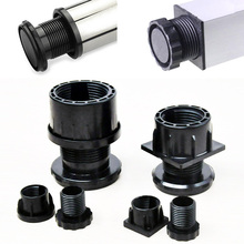 цена на 4pcs Screw adjustable Chair feet Black Plastic Furniture Leg Plug Blanking End Cap Bung For Round Pipe Tube Protector Hardware