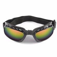 Gafas de moto Vintage plegables a prueba de viento gafas de esquí a prueba de polvo fuera de carretera gafas de carreras ajustable elástico caliente