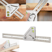 Hot Sale Roof Revolutionizing Carpentry Utensil Practical Protractor Angle Finder Stainless Steel Caliper Measuring Ruler