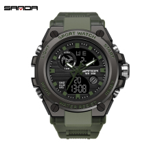 2019 new SANDA mens watch multi-function waterproof digital military outdoor sports relogio masculino