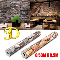 3D 0.53x10M Stone Wallpaper Stereoscopic Faux Stone Brick Wall Wallpaper For Walls Living Room TV Background Vinyl Paper Mural