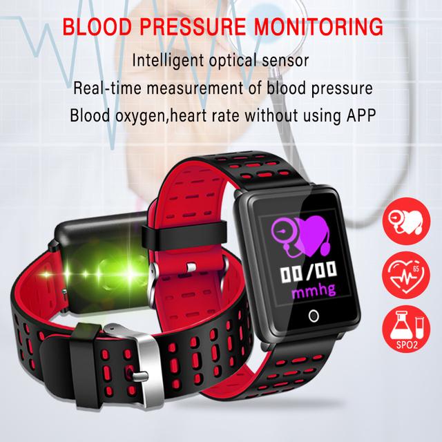 2019 New Smart bracelet Mens women Smart watch Heart rate wristband Blood pressure monitor Sport Mode Fitness tracker Bluetooth
