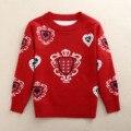 Novo 2016 Camisola Meninas Primavera Outono das Crianças Cardigan Meninos Outerwear das Crianças O-pescoço Blusas Menina Pullovers Crianças Camisolas De Lã