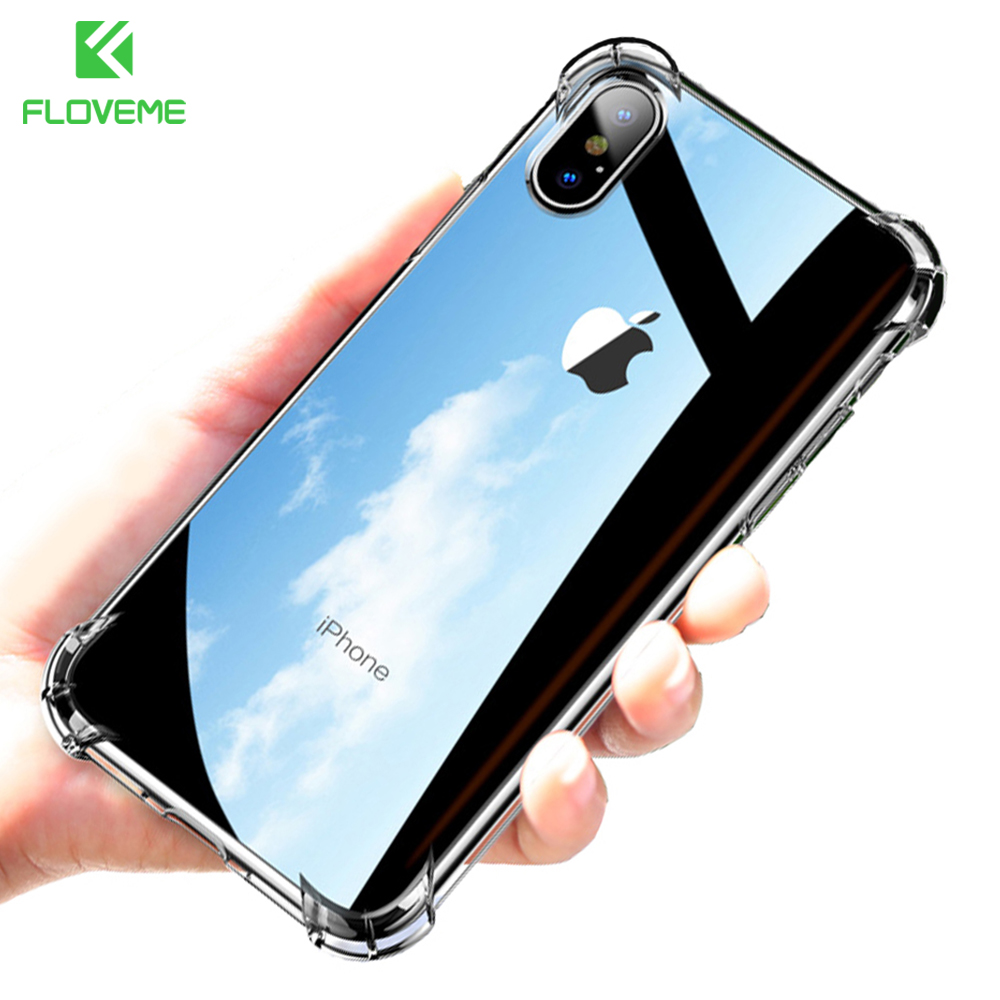 Anti-knock Clear Silicon Shockproof Cover with TPU iPhone Case