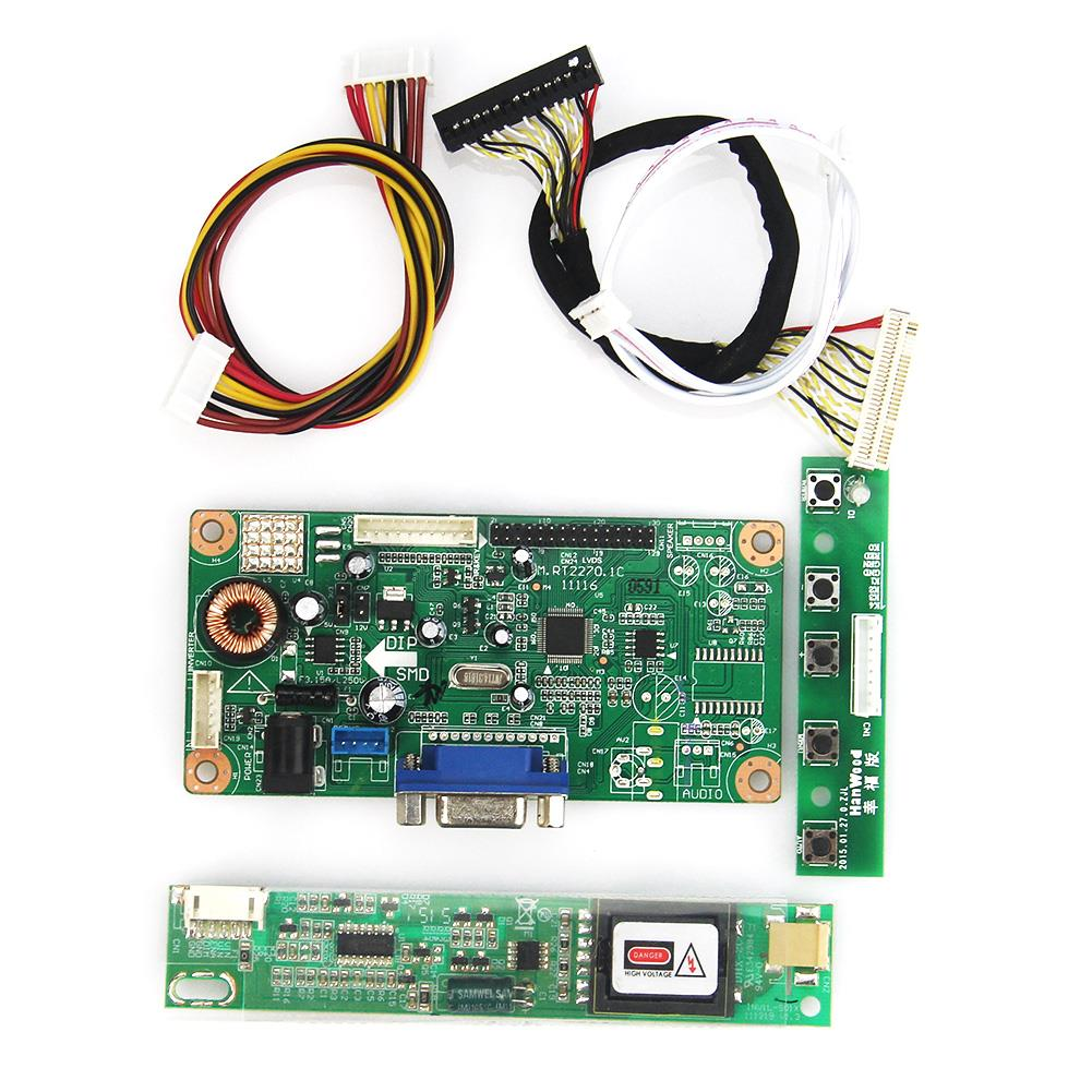 New Control Driver Board VGA LVDS Monitor Reuse Laptop 1440x900 For LP171WX2  LP171WP4-TL03  Free Shipping