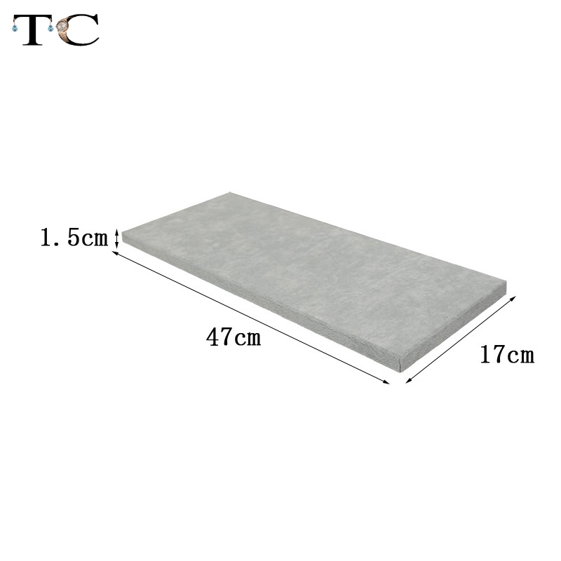 Jewelry Display Tray Grey Velvet MDF Board Substrate for Window Showcase Bottom Board Jewelry Store Showed