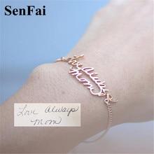 Senfai Hot Name Bracelets Bangles for women men Custom Personalize Rose Gold Letter Unice Unicorn Cufff Bracelet Bangle Jewelry