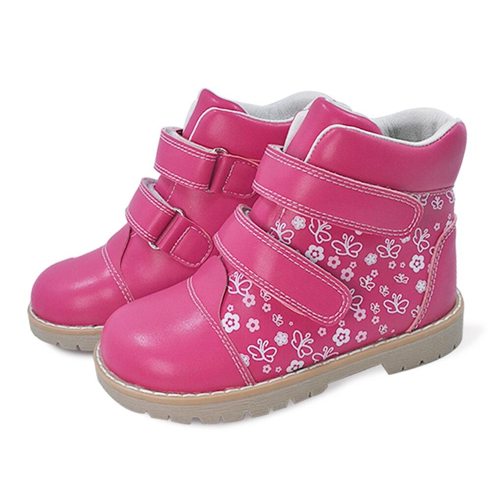 Mode printemps automne enfants décontracté chaussures orthopédiques enfants papillon impression chaussures en cuir filles bambin chaussures de sport - 6