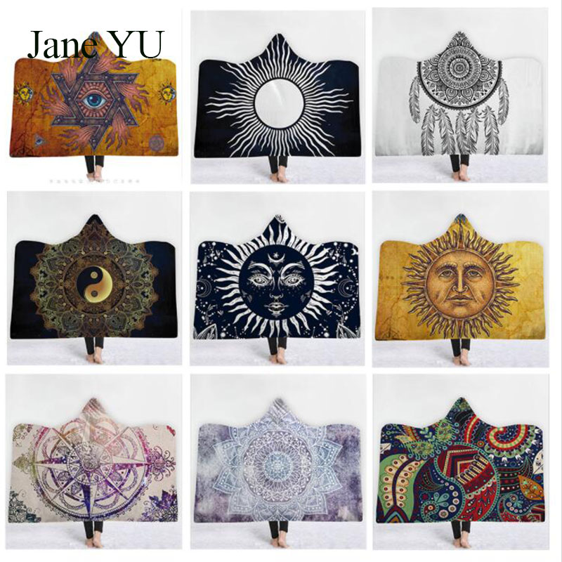 JaneYU Explosive hooded blankets magic household childrens blanket thickened religious style