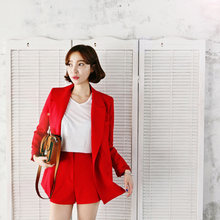 5c1edb0bca Women's suits coat + shorts 2018 spring and summer new Korean small suit  jacket fashion casual thin two-piece suit