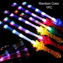 Вечерние, портативные, легкие, мигающие, светящиеся палочки, Клубные шоу, волоконно-оптические, радужные цвета, на Хэллоуин, светодиодный, мигающие, легко управляемые, праздничные