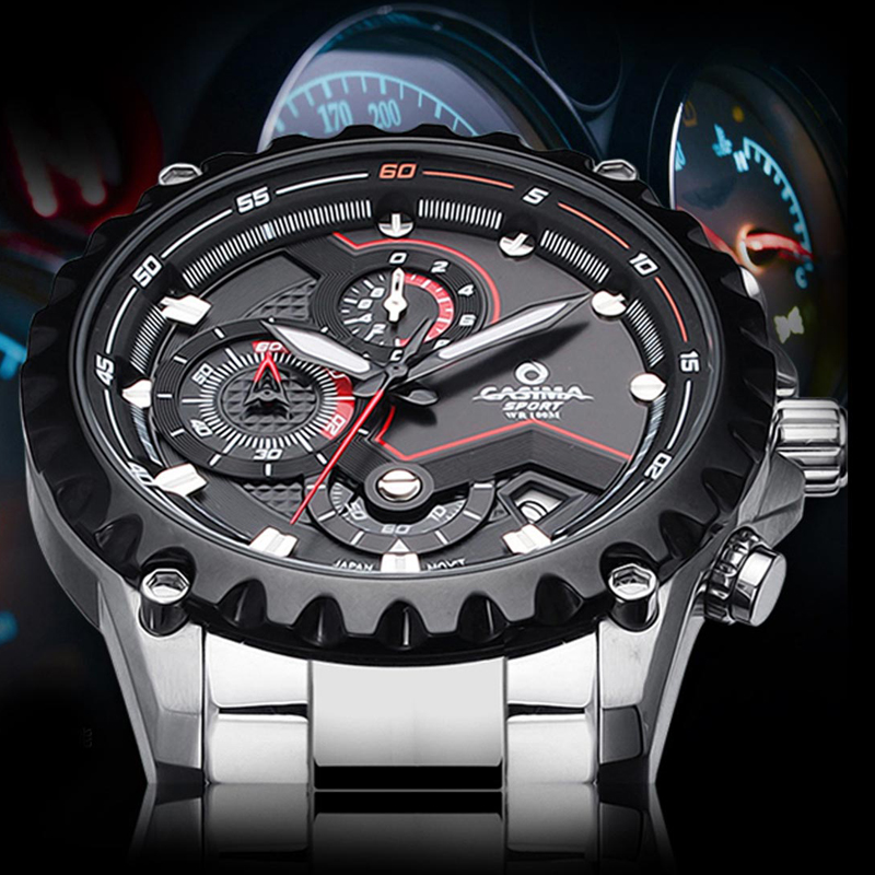 Luxury Brand sport men watches fashion charm mens quartz wrist watch waterproof 100m relogio masculino #CASIMA 8203 casima sport men watches fashion brand quartz wirst watch luminous waterproof watch men multifunction relogio mascul 8203