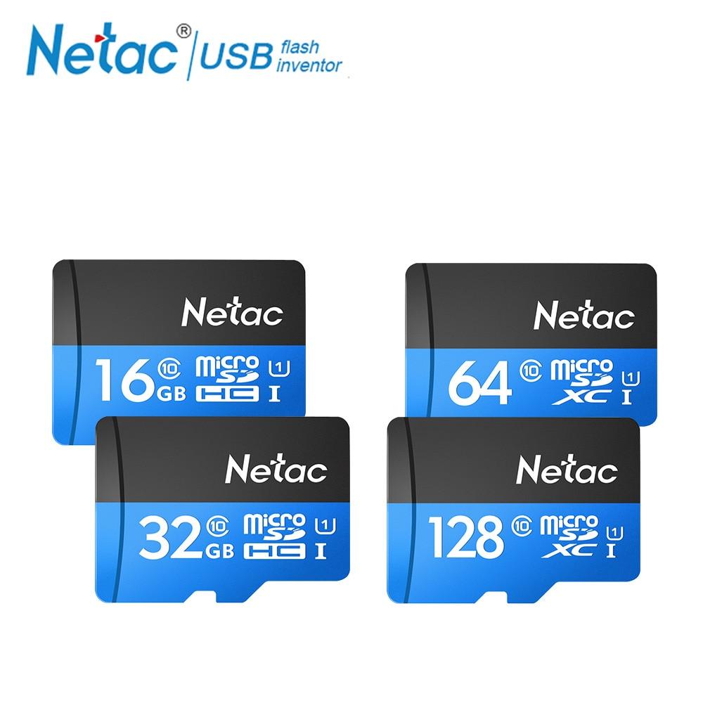 Netac Original Class 10 16GB 32GB 64GB 128GB Micro Card UHS-1 TF Card 80MB/s Flash Memory Card Data Micro SD Card For Table PC 32gb samsung class 10 48mb s tf micro sd uhs i memory card