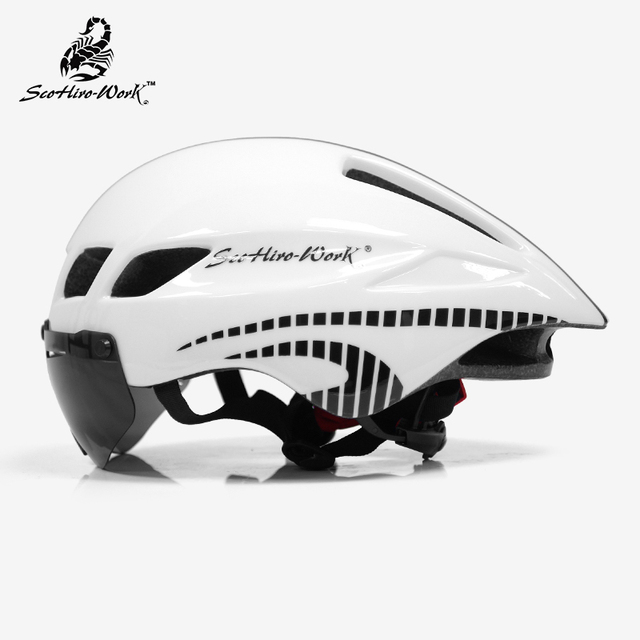 bicycle helmet men Casco Ciclismo road mtb mountain bike Triathlon tt cycling helmet lens goggles equipe capacete da bicicleta