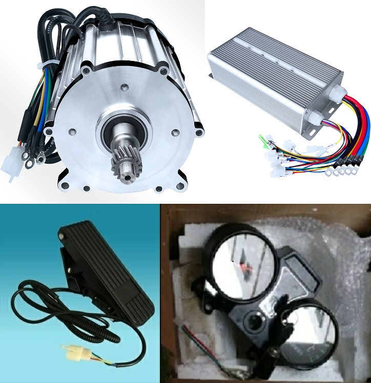 Fast Shipping <font><b>1500W</b></font> 48V <font><b>60V</b></font> 72V 24 mofset 1pc brushless <font><b>motor</b></font>+1pc controller E-bike electric bicycle speed control image