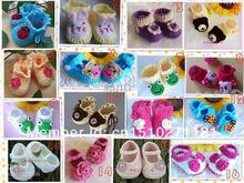 Multi styles Crochet handmade knit Baby Booties / shoes cotton custom cotton Baby shoes
