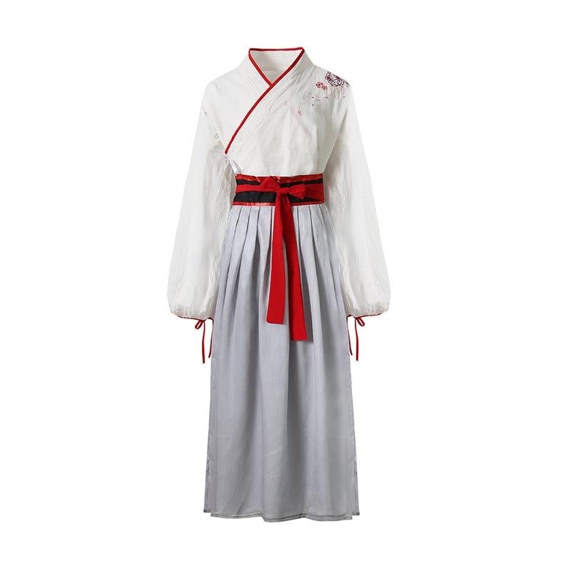 Hanfu Female Costume Fairy Traditional Chinese Folk Dance Elegant Fresh Tang Dynasty Ancient China Women Dress Suit Costume