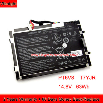 Genuine 8 Cells PT6V8 Battery for Dell Alienware M11x R1 M11x R2 R3 M14X R1 R2 P06T 8P6X6 08P6X6 T7YJR BT6V8 14.8V 63Wh
