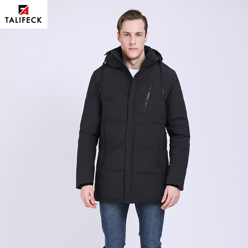 5c3160cea0f1 TALIFECK 2018 NEW Warm winter jackets men Thicken Long Cotton Padded Fashion  Casual Overcoat Men Hooded