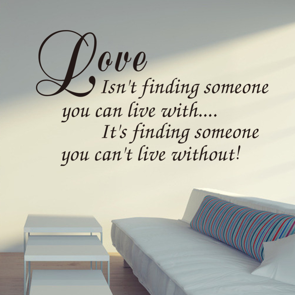 Love isnt finding wall decals love quotes romantic love messages love isnt finding wall decals love quotes romantic love messages wall decals vinyl stickers home bedroom decor zy8235 in wall stickers from home garden amipublicfo Choice Image