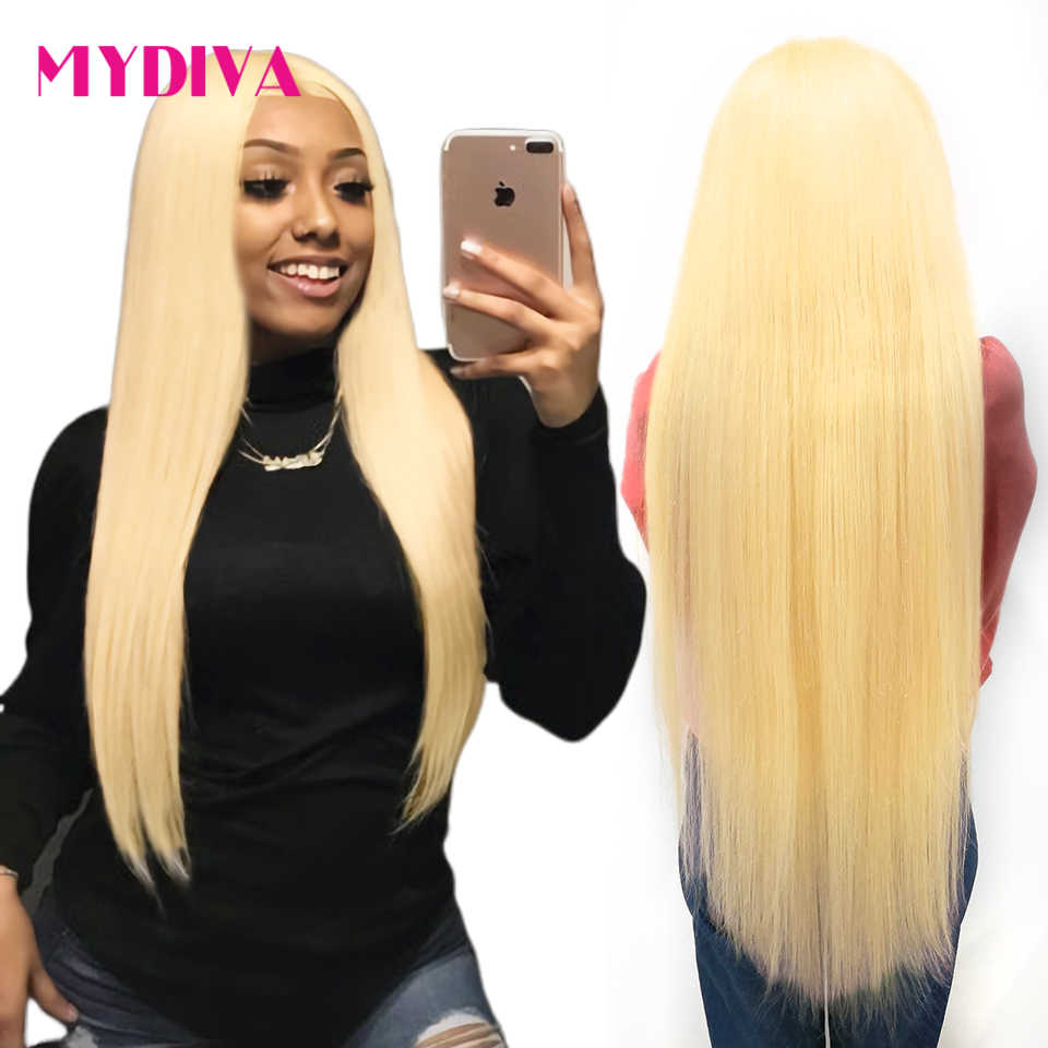613 Honey Blonde Lace Frontal Wig Pre Plucked With Baby Hair Transparent 613 Glueless Lace Frontal Wig For Black Women Remy Hair