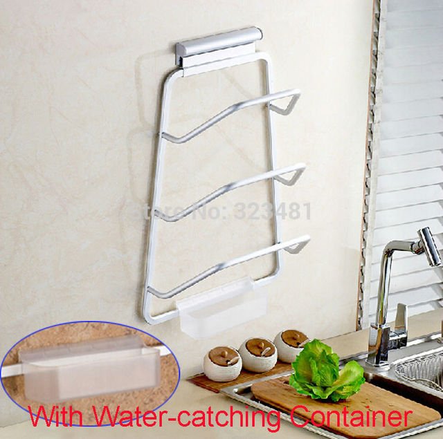 Aluminium Kitchen Organizer Wall Mounted Kitchen Rack for Dish and Pot lid cover plate holder Storage & Aluminium Kitchen Organizer Wall Mounted Kitchen Rack for Dish and ...