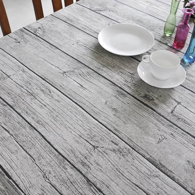 Placeholder Garden Wood Imitation Treebarkstripe Table Cloth Rectangular Background Cover Dining
