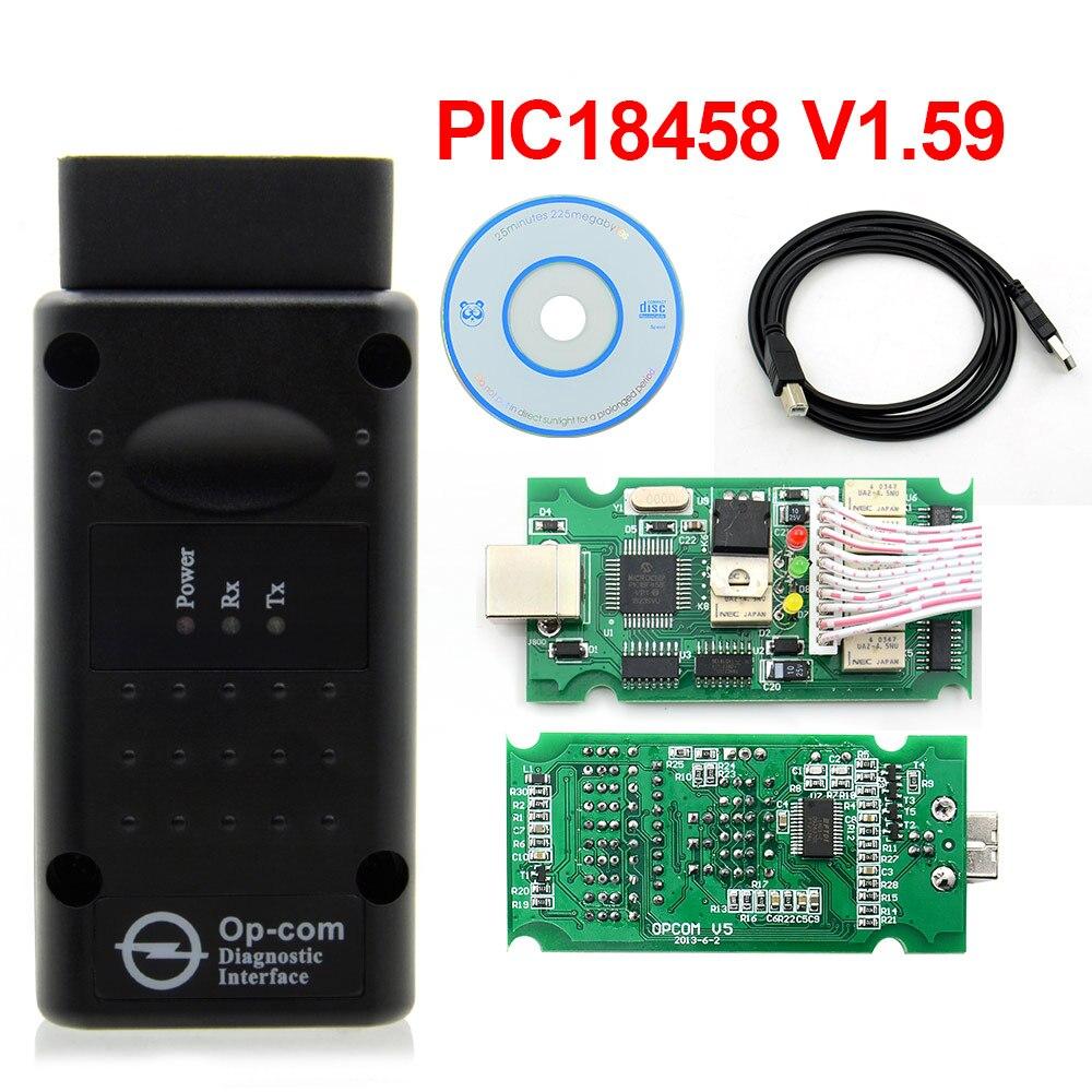 Op-com v1.99 com pic18f458 ftdi op-com obd 2 leitor de código ferramenta diagnóstica automática para o-pel opcom pode ônibus v1.7 pode ser atualização flash