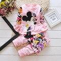 Primavera ropa niños set 2 unids jacket + pants del bebé infantil de las muchachas vestidos peplum chaqueta niñas leggings bebe trajes de bebé traje