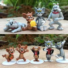 1pc Cartoon Tom and Jerry Action Figures Tom Jerry Spike PVC Action Figures Toys Model motivation and action