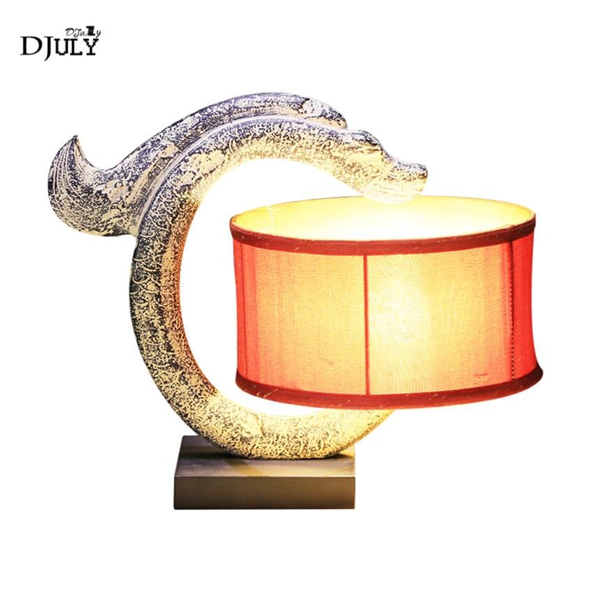 Agressief Klassieke Hars Python Tafellamp Art Deco Studie Slaapkamer Lamp Woonkamer Offcie Bureau Decoratie Vintage Creatieve Led Tafel Licht
