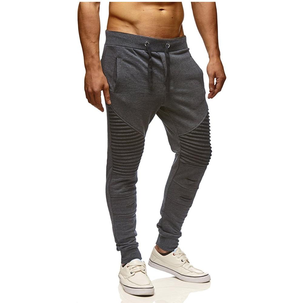 Men Pants 2018 New Fashions Joggers Pants Male Casual Sweatpants Bodybuilding Fitness Track Pants Men's Sweat Trousers
