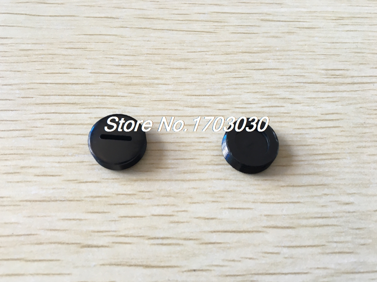 20pcs Black Plastic 12mm Diameter Carbon Brush Holder Slotted Caps Case