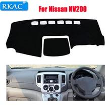 RKAC Auto cruscotto pad copre Per Nissan NV200 tutto l'anno la mano destra Strumento di unità piattaforma scrivania dash pad car accessori