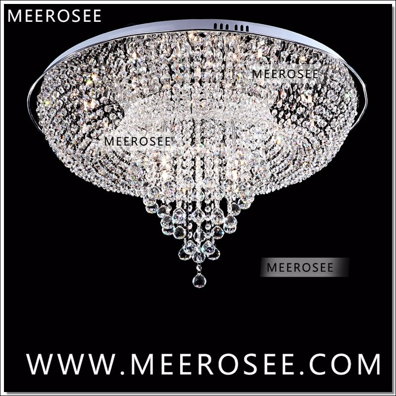 Modern Crystal Ceiling Lights Fixture Round Lustre Lamparas De Techo Crystal Stair Light Foyer Cristal Hallway Home Decoration