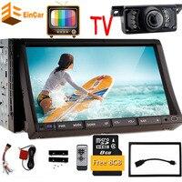 ТВ + 7 дюймовый стерео GPS Навигации 2Din HD Сенсорный экран в тире автомобиля GPS DVD плеер Ipod аналоговый ТВ радио + сзади Камера + бесплатная GPS Геогр