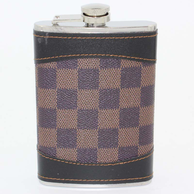 9oz Stainless Steel Hip Flask Alcohol Whisky Flagon Outdoor Essential Wrapped PU Leather Portable Pocket Hip Flask Personalized