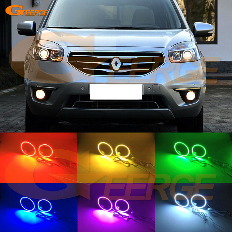 For Renault Koleos Samsung QM5 2012 2013 2014 Xenon headlight Excellent Multi-Color Ultra bright RGB led Angel Eyes kit bigbang 2012 bigbang live concert alive tour in seoul release date 2013 01 10 kpop