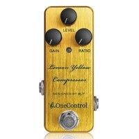 Japan One Control Yellow Lemon Compressor guitar effect pedal new