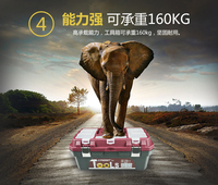 Rhett plastic hardware toolbox portable home multi function large maintenance electric car double layer storage box