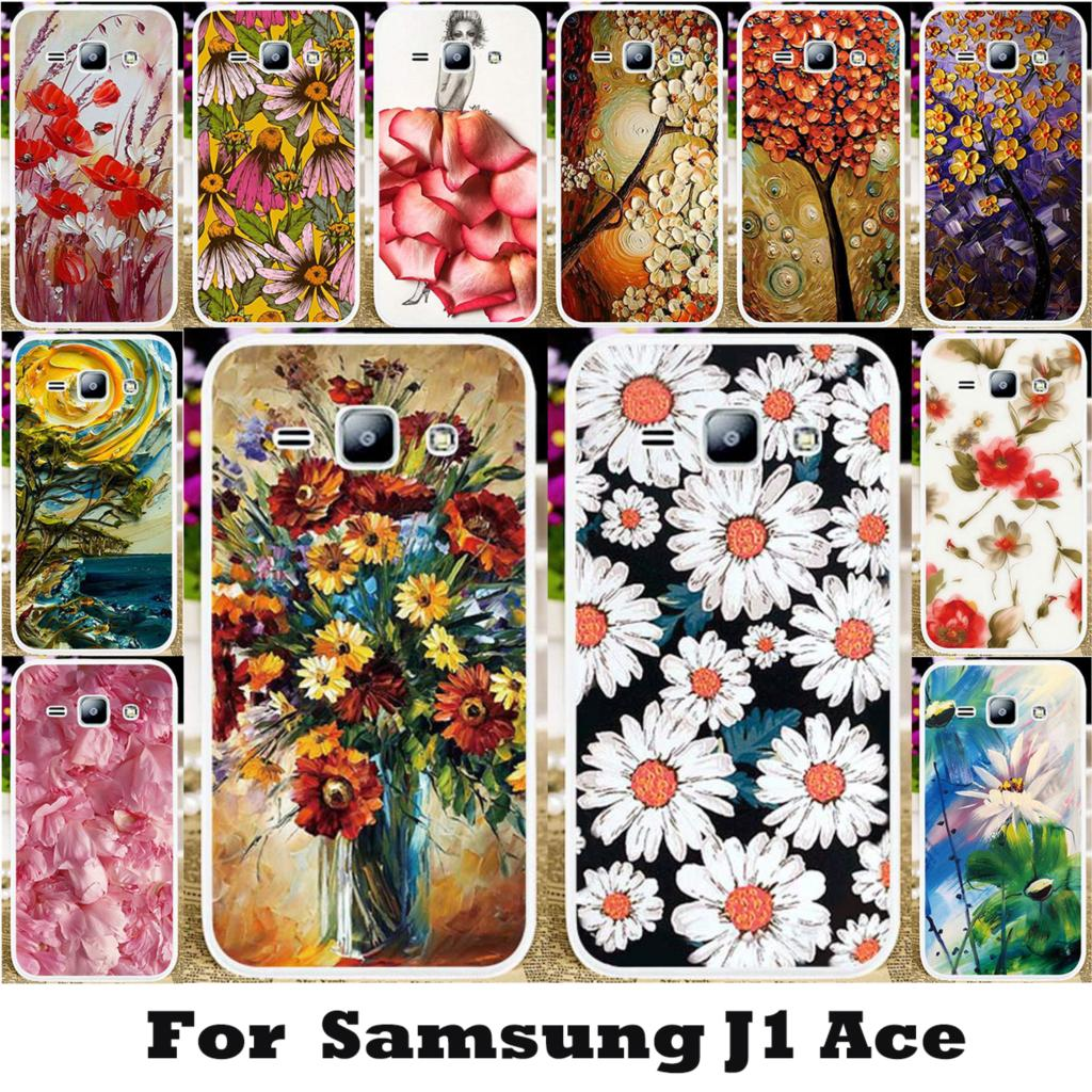 TAOYUNXI Flowers Painted Cases For Samsung Galaxy J1 Ace J110M J110F J110G J110L J1 Ace Neo J111F J110 J110H Cover Housing Bag