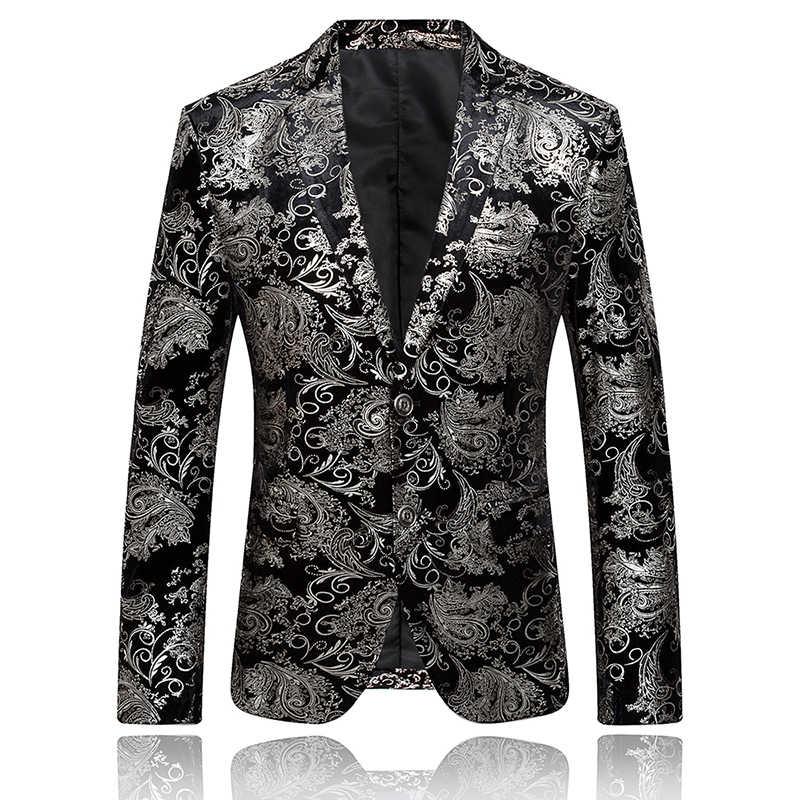 ИП. g.S Мужская Бизнес Банкетный золото пиджак блейзеры Серебряный пиджак slim fit Корея vestido casaco masculino смокинг