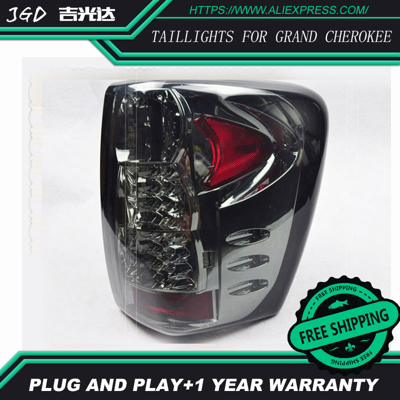 Car Styling tail lights for Grand Cherokee 1999-2004 taillights LED Tail Lamp rear trunk lamp cover drl+signal+brake+reverse xuankun off road motorcycle modified led taillights turn lights brake lights license plate tail lighthouse