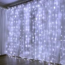 3M X2M 240Led гирлянды огни занавески сосулька сказочные огни Рождественская гирлянда лампа для свадебной вечеринки украшения на окна для дома