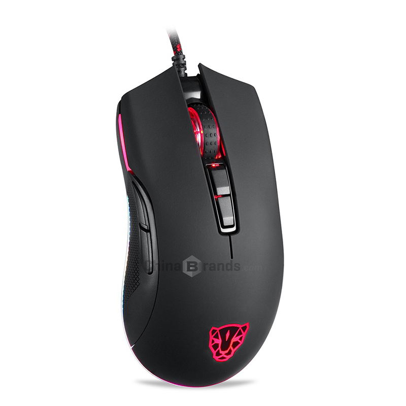 Motospeed V70 Optical Wired Gaming Mouse PMW3320 Engine 6 Speed Switches RGB Backlight USB Cable Mice For Gamer Desktop Laptop original logitech g102 gaming wired mouse optical wired game mouse support desktop laptop support windows 10 8 7